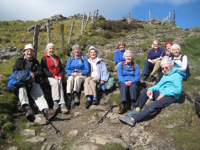 A Group of Members on holiday at Knocknarea  near Sligo
